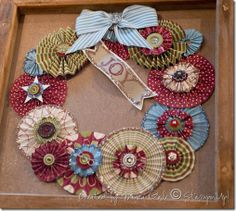 This great wreath idea can be adapted for any holiday or occasion just by changing the colors.  |  Monica's Passions