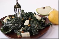 Magic Kale Salad with Pistachios and Apples << Peas & Thank You