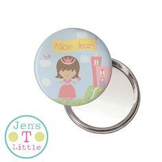 Princess & Castle Compact Mirror - Personalised – JensLittleT