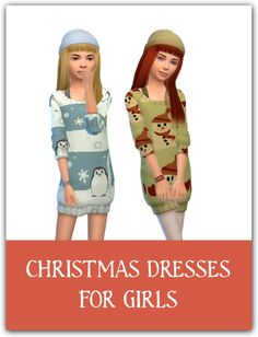 Maimouth: Christmas dresses • Sims 4 Downloads