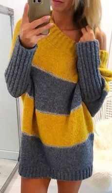Leicht 30 Knitted Women Pullover That Make You Look Cool Women Pullover, Knitting Pullover, Chunky Knit Throw, Plus Size Sweaters, Casual Tops For Women, Knitted Blankets, Sweater Fashion, Crochet Clothes, Pulls, Long Sleeve Sweater