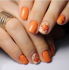 Trendy Manicure Ideas In Fall Nail Colors;Orange Nails; Fall Nai… Trendy Manicure Ideas In Fall Nail Colors;Orange Nails; Fall Gel Nails, Cute Nails For Fall, Fall Acrylic Nails, Autumn Nails, Fall Nail Art Autumn, Fall Winter, Fall Nail Ideas Gel, Winter Ideas, Winter Nails