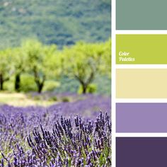 Color Palette This Provence scheme is very appropriate when decorating the interior of a country house or if you prefer vintage and cute things and like the style of Pro. Color Schemes Colour Palettes, Kitchen Colour Schemes, Green Colour Palette, Green Colors, Color Combos, Kitchen Colors, Kitchen Ideas, Green Kitchen, Purple Color Schemes
