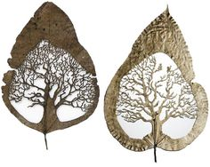 Such intricate art - done on leaves!