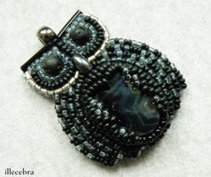 Her name is Eryka.  #beadwork #beadembroidery #owl #jewelry #illecebra #handmade