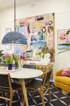Fenton & Fenton Home Décor Ideas Office Artwork, Pastel Decor, Bright Art, Aesthetic Rooms, Dining Nook, Stylish Home Decor, Home Interior Design, Interior Paint, Décor Ideas