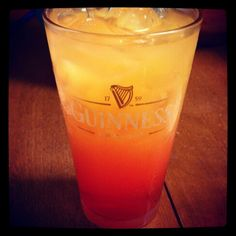 Parrot Bay Coconut Rum, Pineapple juice and Grenadine.