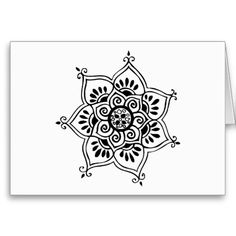 this is my most viewed #zazzle design, and finally it actually SOLD! lotus flower tribal tattoo design cards