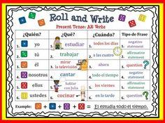 Spanish Present Tense Verbs | Spanish Verb Activity Board