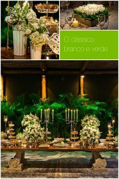 Tendências de cores e decoração de casamentos 2014 - clássico branco e verde  http://zankyou.terra.com.br/p/tendencias-de-cores-e-decoracao-de-casamento-em-2014