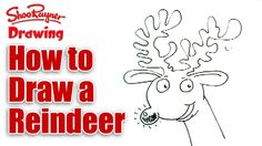 How to draw a Reindeer really easily