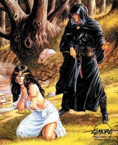 Artwork: tempt by fantasy artist Larry Elmore. See more artwork by this featured artist on the fantasy gallery website. High Fantasy, Fantasy Rpg, Medieval Fantasy, Fantasy Girl, Fantasy Artwork, Forgotten Realms, Sword And Sorcery, Fantasy Images, Wow Art