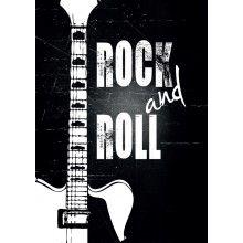 "Juliste ""Rock and Roll"" - A4, A3, 50x70cm"