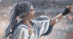 lips long hair people looking away Wlop fantasy art glove digital art elf artwork cape mouth necklace fantasy mole princess ? Anime Art Fantasy, Art Anime, Anime Art Girl, Fantasy Girl, Fantasy Artwork, Elves Fantasy, Fantasy Princess, Fantasy Inspiration, Character Inspiration
