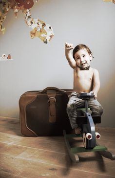 Foto's pictures baby photoshoot old school Travel kids