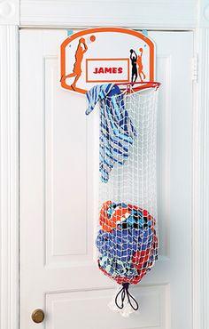 diy basketball goal decor so cute and looks pretty easy amy rh pinterest com Over the Door Basketball Hoop Paint Basketball Hoop