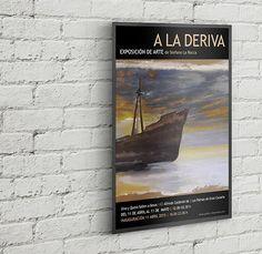 Cliente: Stefano La Rocca, Pintor. Proyecto: Diseño Gráfico Cartel de Exposición Individual en Las Palmas de Gran Canaria, España.
