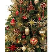 Holiday Lane Christmas Ornaments, All That Glitters Tree Theme