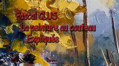PASCAL CLUS -Cours peinture au couteau- Montagnes brumeuses 1/2