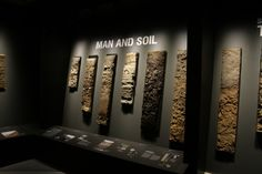 Work in process: World Soil Museum at the University of Wageningen. Displaying a small selection of the world biggest collection of monoliths (soil samples). Permanent exhibit opening in 2014.