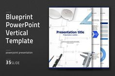 Awesome slides business powerpoint templates and graphics blueprint ppt vertical templa by good pello on creativemarket malvernweather Images