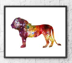 Lion Art Print  Animal Watercolor Painting by Thenobleowl on Etsy, $15.00