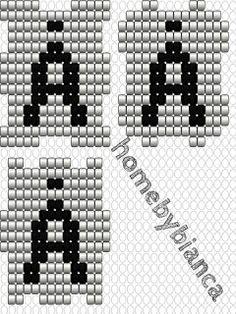 Skabeloner til hama bogstavklodser - Home by Bianca Pearler Bead Patterns, Pearler Beads, Perler, Beading Patterns, Hama Beads, Bead Patterns