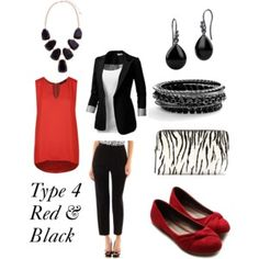Dress Your Truth Type 4 Red & Black