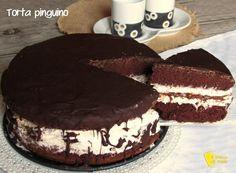 torta pinguino ricetta torta kinder pinguì con cioccolato panna nutella il chicco di mais intera