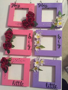 Sorority line picture frames for my grand littles