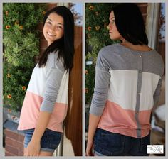 Check out this top in a trio of soft colors & button back appeal... sweet... #ishoptheloft #fashion #nowtrending #style #ootd #mystyle #boutiquelove #trendy #shopsmall #follow — with Lydia Hansen.