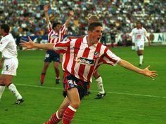 Fernando Torres. Primer gol con el primer equipo. Contra el Albacete. 2001