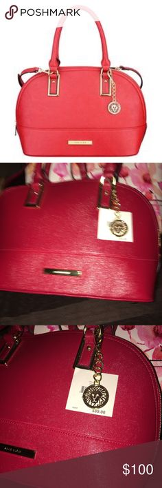 Anne Klein🍒Cherry🍒Shimmer Down Dome Satchel 🍒Satchel/Crossbody. Anne Klein Bags Satchels