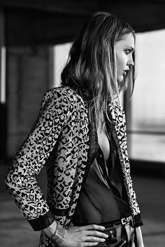 sasha pivovarova for saint laurent resort 2014 | visual optimism; fashion editorials, shows, campaigns & more!