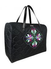 A big shoulder travel bag DESTINY (coloured embroidery)