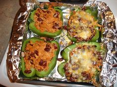 stuffed peppers This look supper easy and good with chicken or beef!