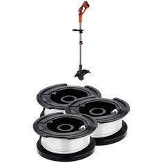 String Trimmers - Black  Decker LST136W 40V Max Lithium String Trimmer and Replacement Spool 3Pack Bundle ** Click image to review more details. (This is an Amazon affiliate link)