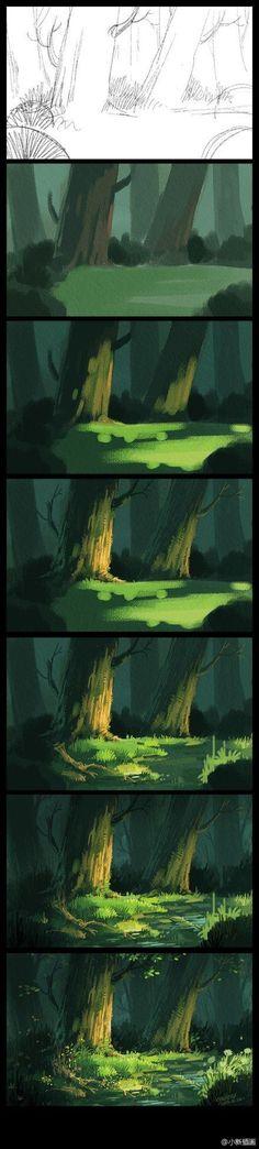 Emma Nightingale tutorial-digital painting