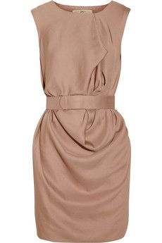 Maybe not blushy enough, but i liiike it. Halston Heritage | Belted draped crepe dress | NET-A-PORTER.COM
