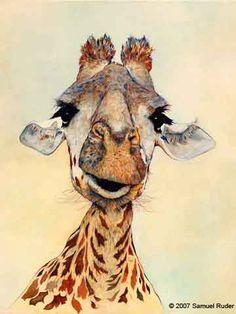 Giraffe - Watercolor - Samuel Ruder