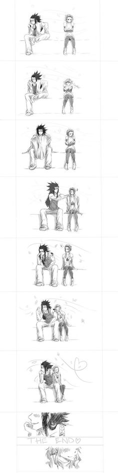Awwwwwee Gajeel is so sweet when it comes to Levy :3