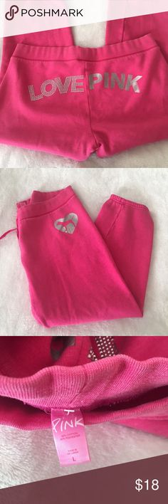 VS PINK Sweats ✨ Victoria's Secret PINK capri length sweats - Fleece lined - Drawstring waist ✨ PINK Victoria's Secret Pants