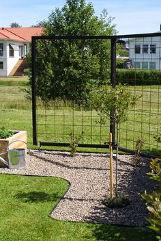 curb discount discount driveway maria sewing and so on: Cultivation flags and trellis in our small garden Source