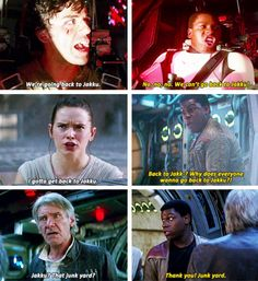 Han would be the last person to dismiss something as junk, so he knows what he's talking about.