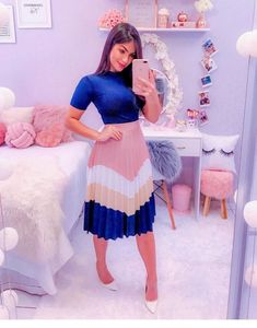 Cute Modest Outfits, Classy Work Outfits, Cute Skirt Outfits, Classy Dress, Stylish Outfits, Girl Outfits, Girls Fashion Clothes, Modest Fashion, Fashion Dresses