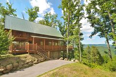 The Fox Ridge 2 bedroom log cabin for rent is located in Brothers Cove Resort in East Tennessee in the heart of the Smoky Mountains. Come here and enjoy the calm and serenity that the Cove offers while up to 6 can enjoy this cabin that is perfect for couples, families, or small groups. #fun #view #family #mountains