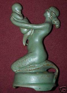 NR Haeger Art Pottery FLOWER FROG MERMAID Early Mark! (08/31/2008)