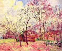 The First Day of Spring - Alfred Sisley - The Athenaeum
