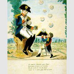 Napoleone gioca con le bolle di sapone / Sala VIII - Mito e satira / Percorsi per sale - Museo Napoleonico
