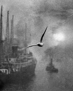 Bill Brandt : Early Morning on the Thames. London Bridge, circa 1936